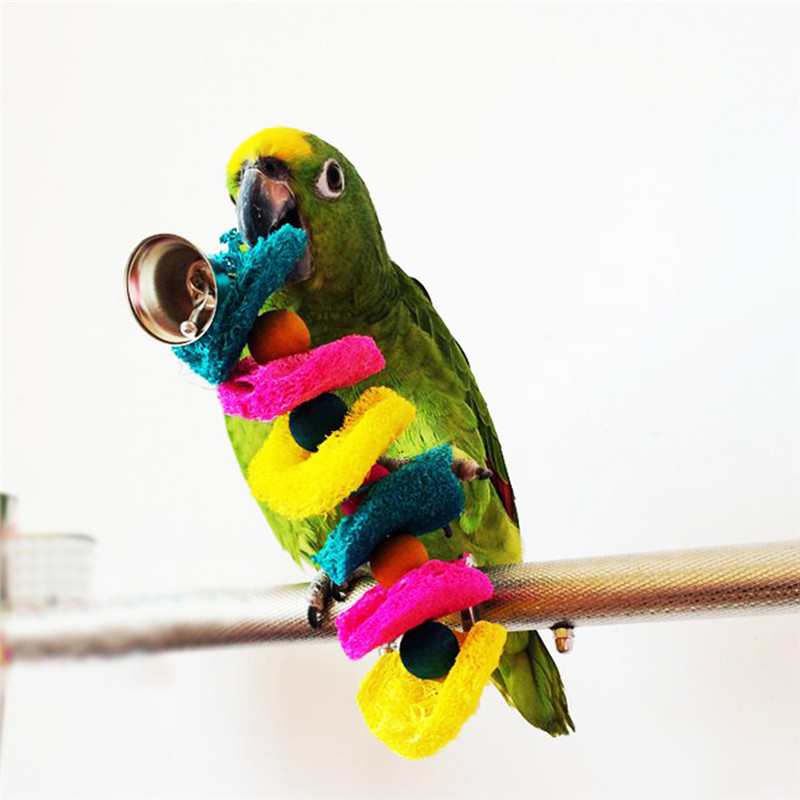 Bird Toys For Birds : Loofah sponge bite resistant toys free shipping worldwide