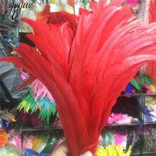 50 шт. 35-40 см 14-16 дюймов натуральный красный петух петушиные перья дешевые перо для ремесел Christma Diy перья фазана украшения