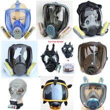 Много химических распылительных силиконовых противогазовых масок для распыления веществ, аналог Противопылевой маски 3M 6800, полнолицевой промышленный респиратор