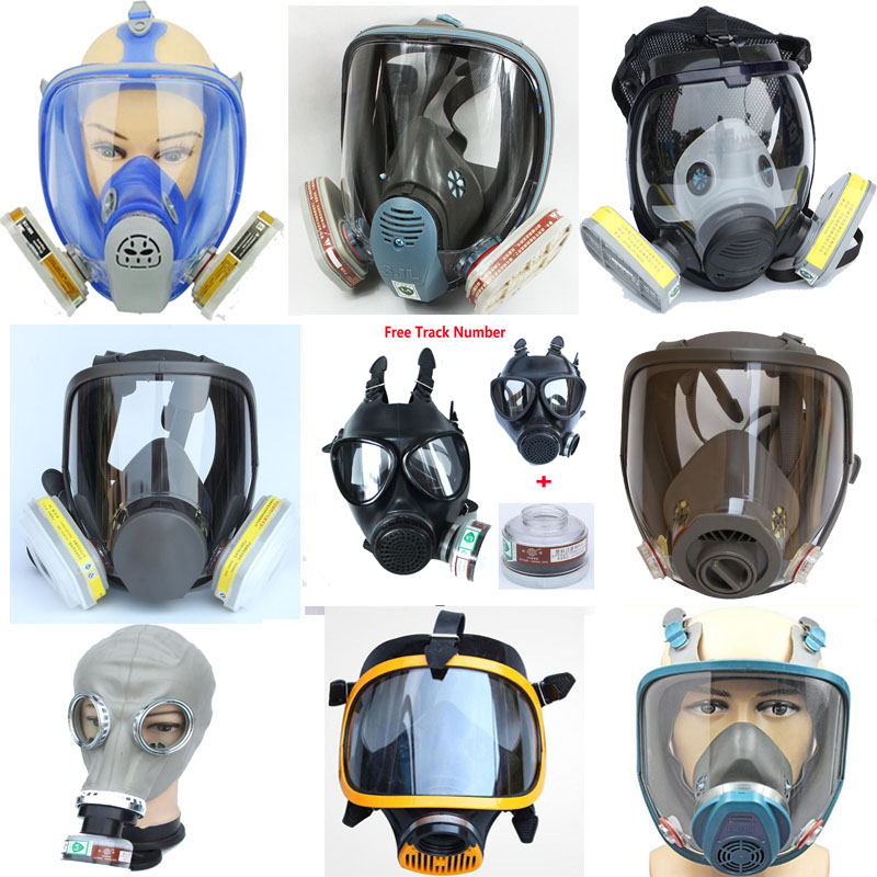 Lot Of Chemcial Painting Spraying Silicone Gas Mask Same For 3M 6800 Dust Gas Mask Full Face Industry Respirator sjl painting spraying respirator gas mask same for 3 m 6800 gas mask full face facepiece laboratories dust mask respirator