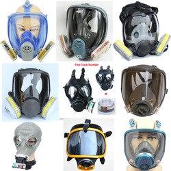 Lot Von Chemische Malerei Spraying Silikon Gasmaske Gleiche Für 3 Mt 6800 Staub Gasmaske Vollgesichts Industrie Atemschutzmaske