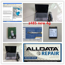 alldata mitchell ondemand 2 in 1 with laptop z485 ram 4g all data 10.53 auto repair software hdd 1tb win7 for cars and trucks