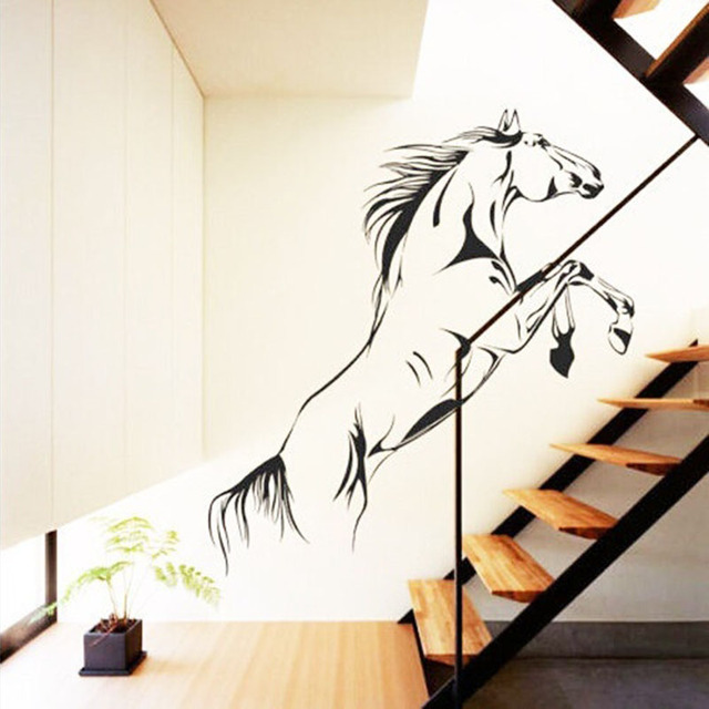 modern home diy wall stickers horse mounted troops removable office wall decor papers 92x 45cm mural aliexpresscom buy office decoration diy wall