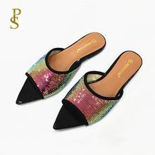 반짝 이는 신발 플랫 신발 여성 신발 숙녀 신발