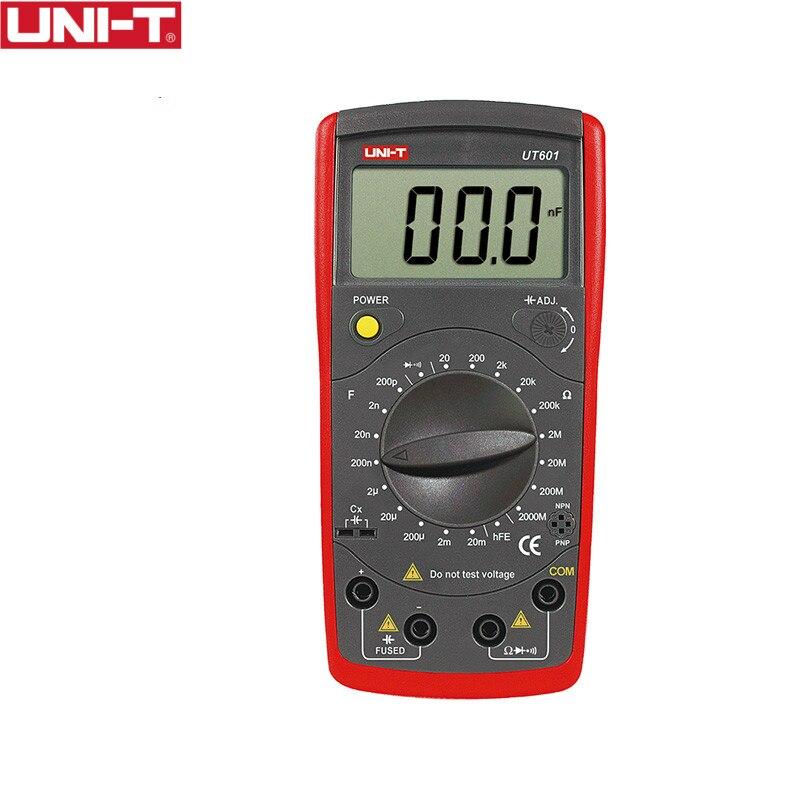 UNI-T UT601 mètres de capacité professionnels modernes ohmmètres résistance de condensateur wDiode et Buzzer de continuité