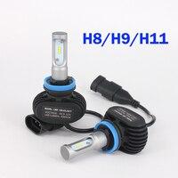 2 SZTUK Samochodów Żarówki Led Zestawy Świateł Mijania Reflektorów & High Beam CREE Chips Auto SUV Lampy światła Przeciwmgielne 12 V 6500 K H4 H7 H11 H13 9005 9006