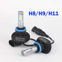 2PCS Car Bulbs Led Headlight Kits Dipped Beam & High Beam CREE Chips Auto SUV Fog Lamps lights 12V 6500K H7 H11 H13 9005 9006 H4