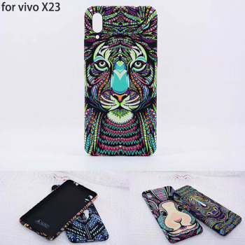 LUXO Forest King Aztec Animals Faces Lion Wolf Owl Pattern Soft TPU Cover Phone Protective Case for VIVO X23