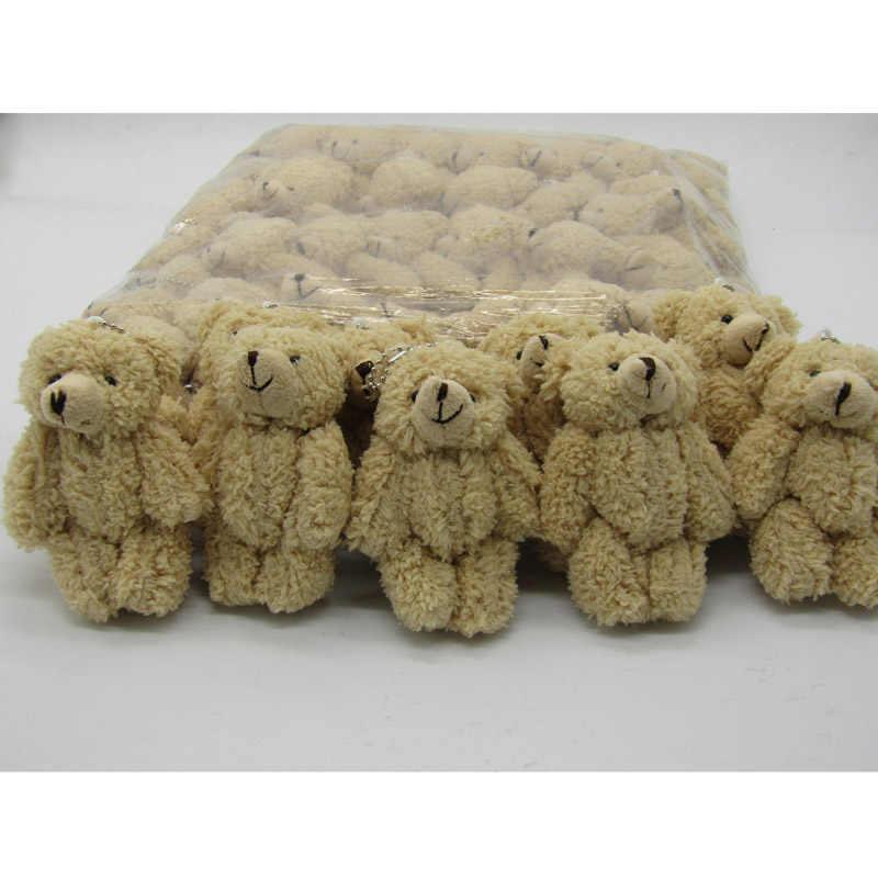 50 PÇS/LOTE Kawaii Pequeno Joint Teddy Bears Stuffed Plush Com Corrente 12 CM Brinquedo de Pelúcia-Urso Mini Ted Urso de pelúcia Ursos de Pelúcia Brinquedos Presentes 08902