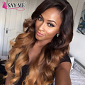 8A Grade One Bundle Only Brazilian Body Wave Ombre 3 Tone 1b 4 27 30 Sexy Formula Hair Ombre Body Wave Human Hair Weave Bundles