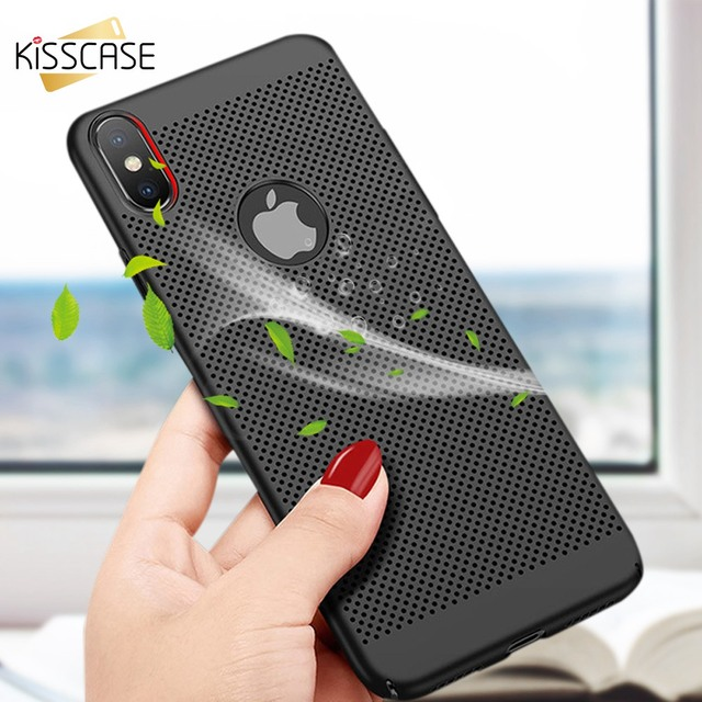 low priced d767a eca8d US $1.29 20% OFF|KISSCASE Heat Dissipation Case For iPhone X 7 8 6 6S Plus  XR XS Max Cooling Phone Cases For iPhone X 7 8 6 6s Plus 5S Back Cover-in  ...