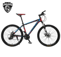 LAUXJACK Mountain Bike Aluminum Frame 24 27 Speed Shimano Mechanical Disc Brakes 26 Wheels