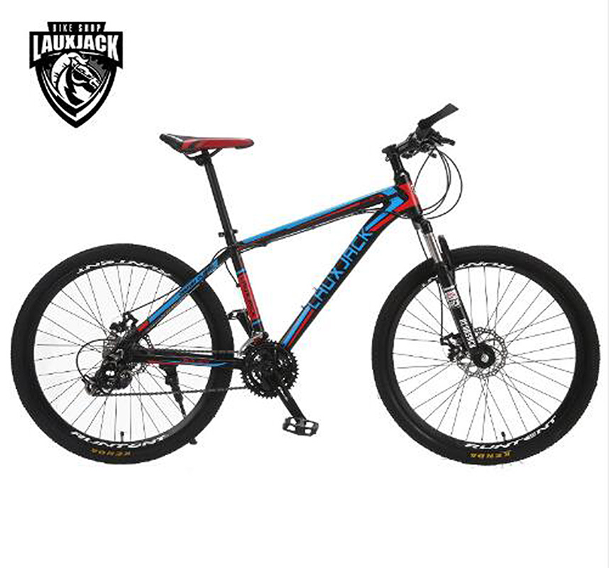 LAUXJACK Mountain bike aluminum frame 24/27 speed Shimano mechanical disc brakes 26 wheels mountain bike four perlin disc hubs 32 holes high quality lightweight flexible rotation bicycle hubs bzh002