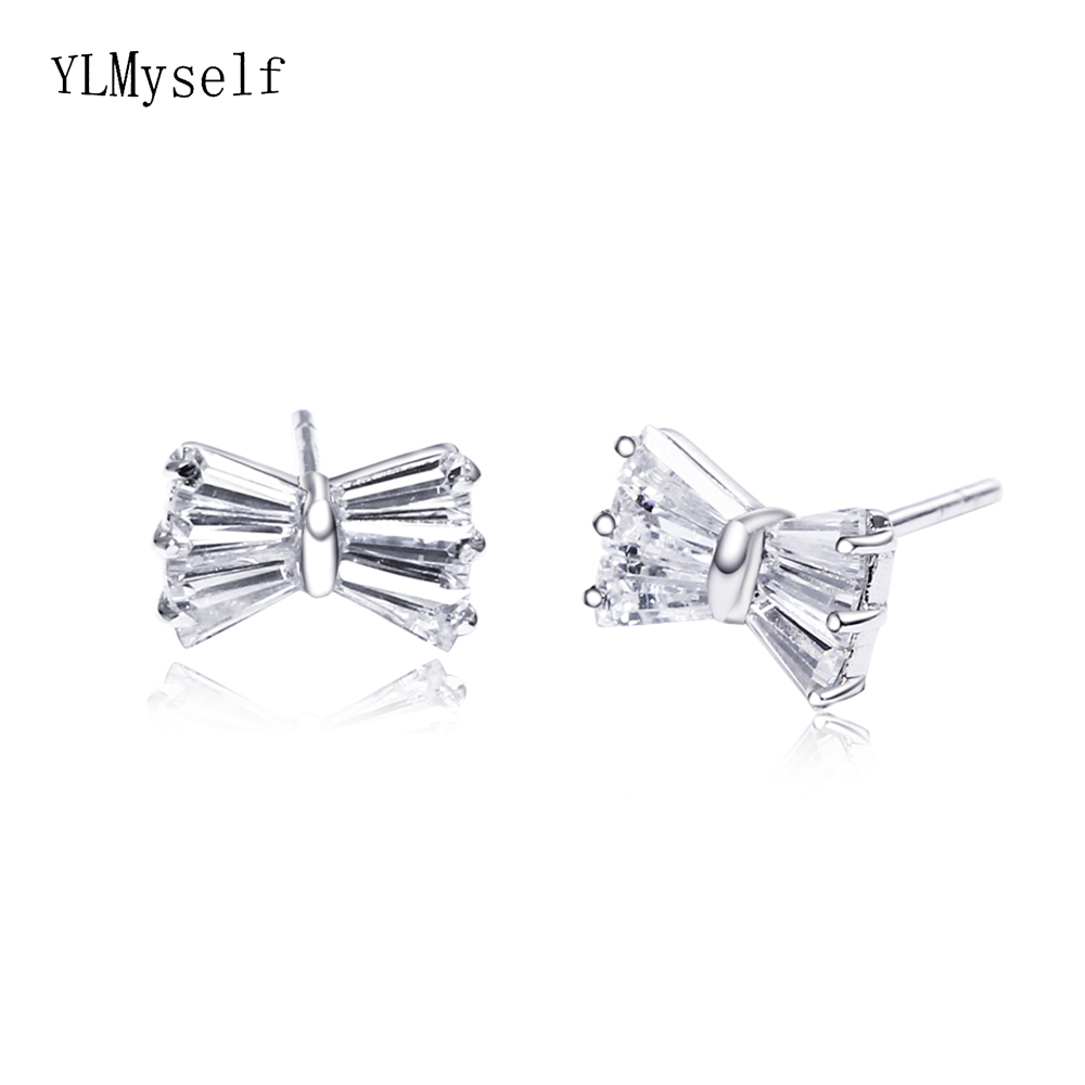 small bow silver earrings (1)