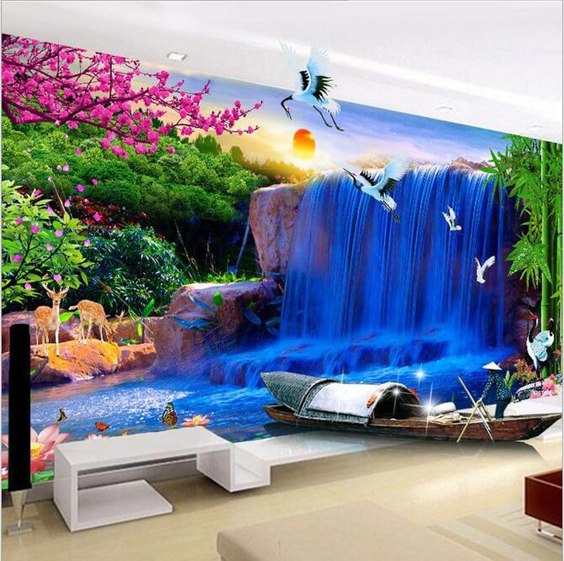 Full Round Diamond Painting 5D Diy Diamond Embroidery Kit Landscape Modern Living Room Sofa Background Painting Decor Sticker