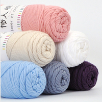 3 Pcs Lot Lovers Cotton Thread Natural Milk Cotton Thick Yarn For Knitting Baby Wool Chunky