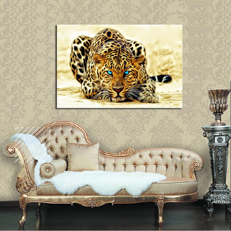 1 Piece picture Hot Sell Abstract Leopard Modern Home Wall Decor painting Canvas Art HD Print Painting for living room