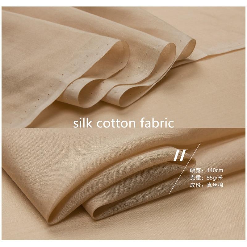 134cm*50cm Mulberry Silk Cotton Fabric Silk Natural Cotton Silk Fabric Inner Lining Fabric Ptchwork Diy Tissu Sewing Cloth