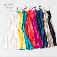 1PC 100% Pure Silk Chemise Nightgown Nightdress Sleepwear with spaghetti straps QQ1
