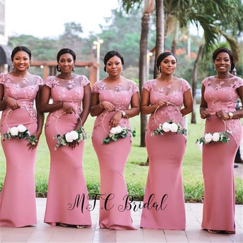 African Bridesmaid Dresses Short Sleeve