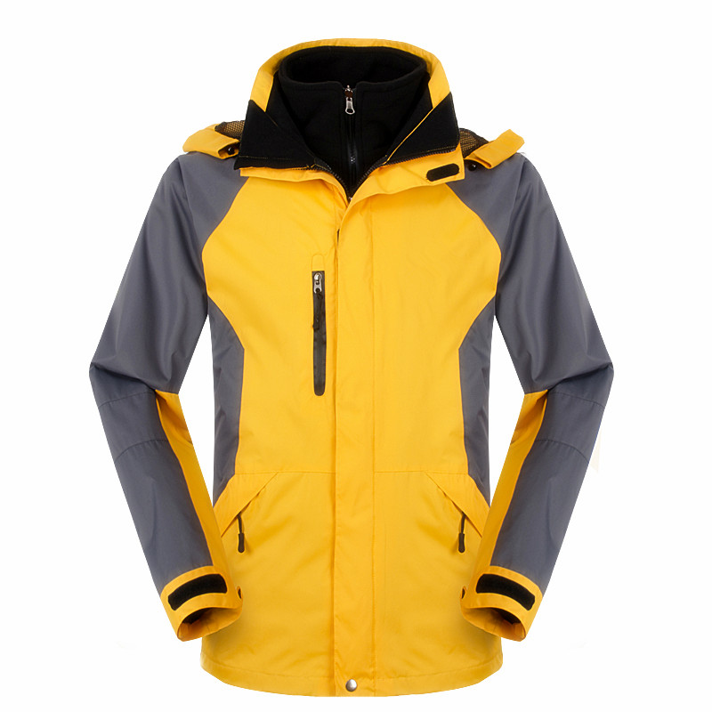 Outdoor Winter Men Women Soft shell 3 in 1 Jacket Camping Hiking Waterproof Jacket Windproof  Ski Thermal Soft shell Jacket