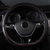car steering wheel cover genuine leather accessories for Citroen c elysee ds3 Fiat 500 500L 500X Panda kia Optima 2017 SW
