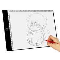 A4 планшетный компьютер рисунок, графика затемнения светодиодный калькирование, копирование доска Краски граффити написания площадку худо...