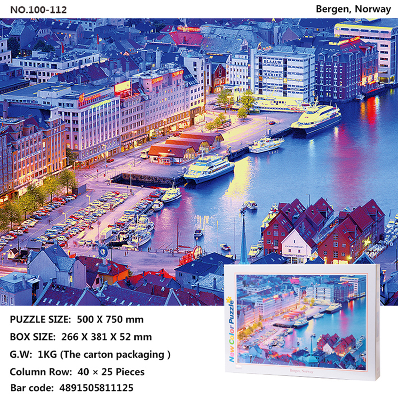 Tomax 1000pcs jigsaw puzzle Rio de Janeiro, Brazil Angkor Wat, Cambodia Windmill, Nethelands Bergen, Norway