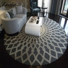 Zeegle Nordic Gray Series Round Carpets For Living Room Computer Chair Area Rug Children Play Floor Mat Cloakroom Carpets(China)