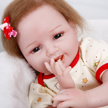 Фотография 2017 Rushed Special Offer Princess Annadoll Reborn Baby Doll Soft Silicone 22inch 55cm Cute Lifelike Lovely Toy Play House Gift