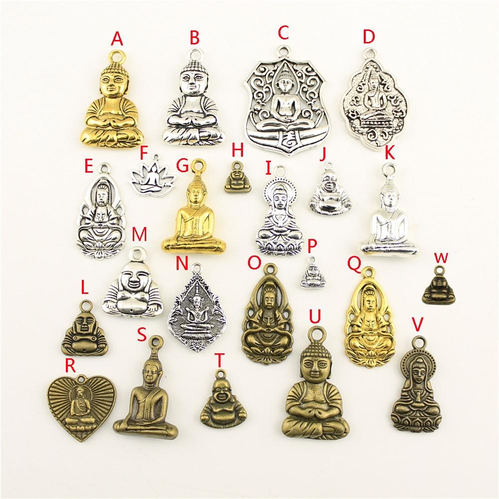 20Pcs Wholesale Bulk Supplies For Jewelry Materials Buddha Creative Handmade Birthday Gifts Charms For Jewelry Making HK218 in Charms from Jewelry Accessories