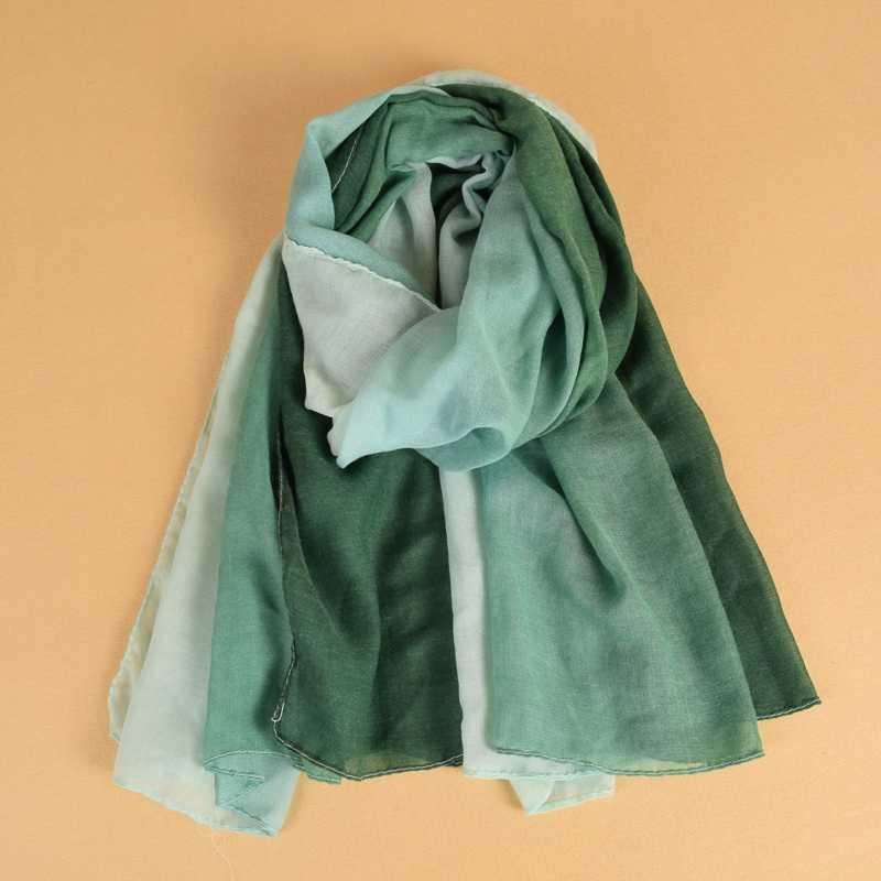 Una pieza mezcla de algodón liso ombre hijab bufanda a la moda musulmán maxi suave Malasia abrigos chales de viscosa bufandas