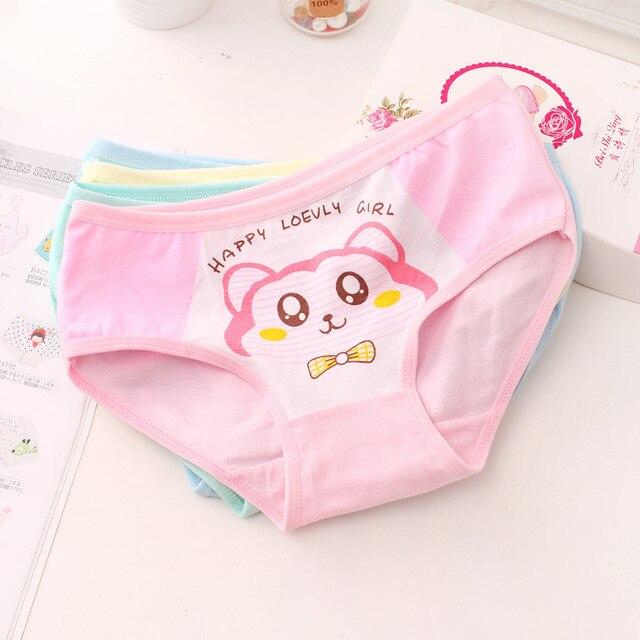 d9c210815851f 6 pcs lot nouveau dessin animé chat motif coton sous vêtement enfant ...