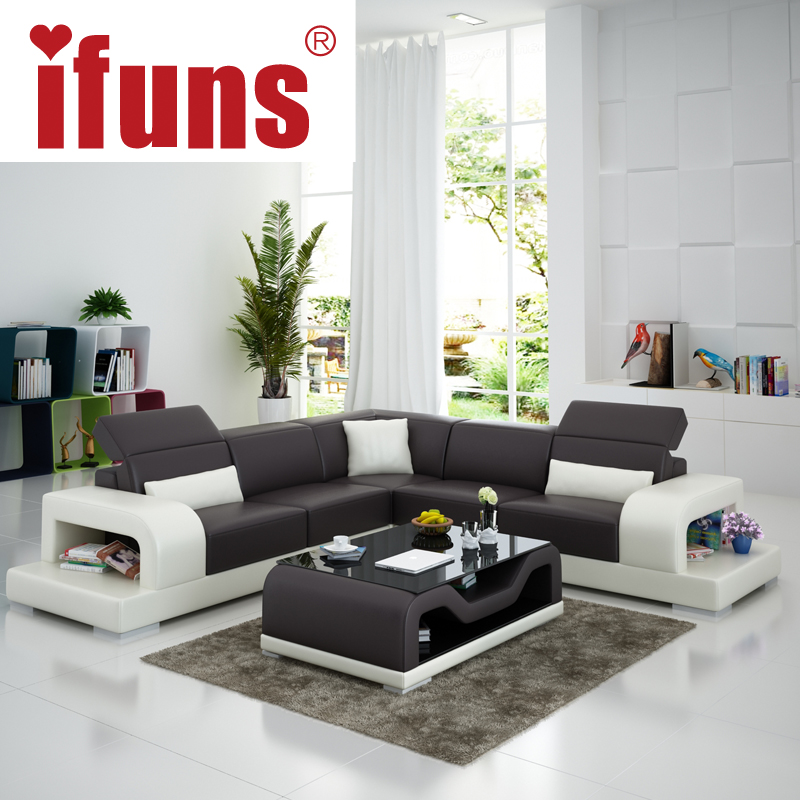 IFUNS cheap sofa sets home furniture wholesale white leather l shape modern  design recliner chaise corner sofa (fr)-in Living Room Sofas from Furniture  on ...