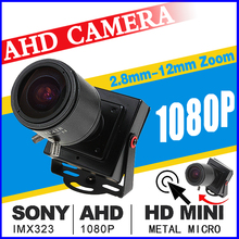 Мм 2,8 мм-12 мм зум фокусировка полный AHD CCTV мини-камера 720 P/960 P/1080P HD * 1920 цифровой 2.0MP маленький микро металлический видеонаблюдения Видикон