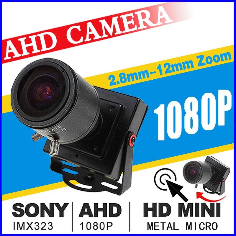 2,8mm-12mm Zoom enfoque completa AHD CCTV Mini cámara 720 p/960 P/1920*1080 p HD Digital 2.0MP pequeño micro metal vigilancia Vidicon