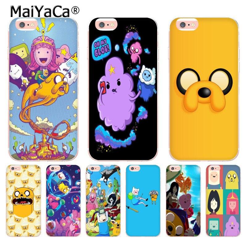 Maiyaca время приключений милые Beemo ВМО Джейк Финн Лампи Coque Телефон caseFor Apple IPhone 8 7 6 6 S Plus x 5 5S SE 5C 4 4S крышка