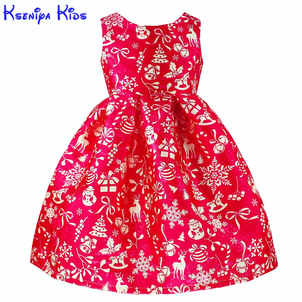 Kseniya Kids Party Dresses Girl Child Costumes For Christmas New Year 2017 Children Clothes 2-10 Years ALG7116 rosenberg 76714