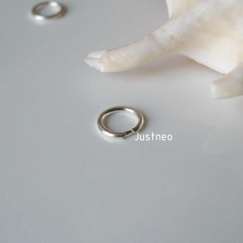 Solidne 925 Sterling Silver zamknięte pierścienie skoku,, 1 sztuka
