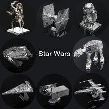 Звездные войны 3D Металлические Головоломки Собрать DIY R2D2 Галстук Xwing Истребитель Тысячелетний Сокол Модель Игрушки Новый Год Подарок