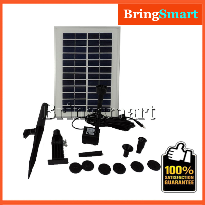 JT-280-5W Water Pump 400L/H 160CM 12V DC Brushless Solar Fountain Pump Kit Water Pond Submersible Pump With Solar Panel dc water pump 12v dc40a 1245 for garden fountain music fountain swimming pool submersible 620l h 4m maintenance free