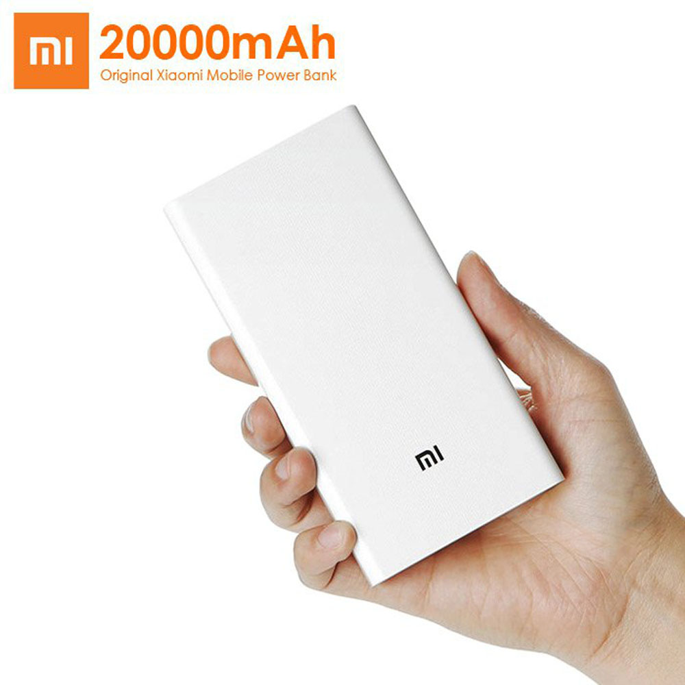 100% Original Xiaomi backup Power Bank 20000 mAh External Battery Charger Dual USB PowerBank iPhone Samsung Redmi Mi Pad - Everyday deal shopping Store store
