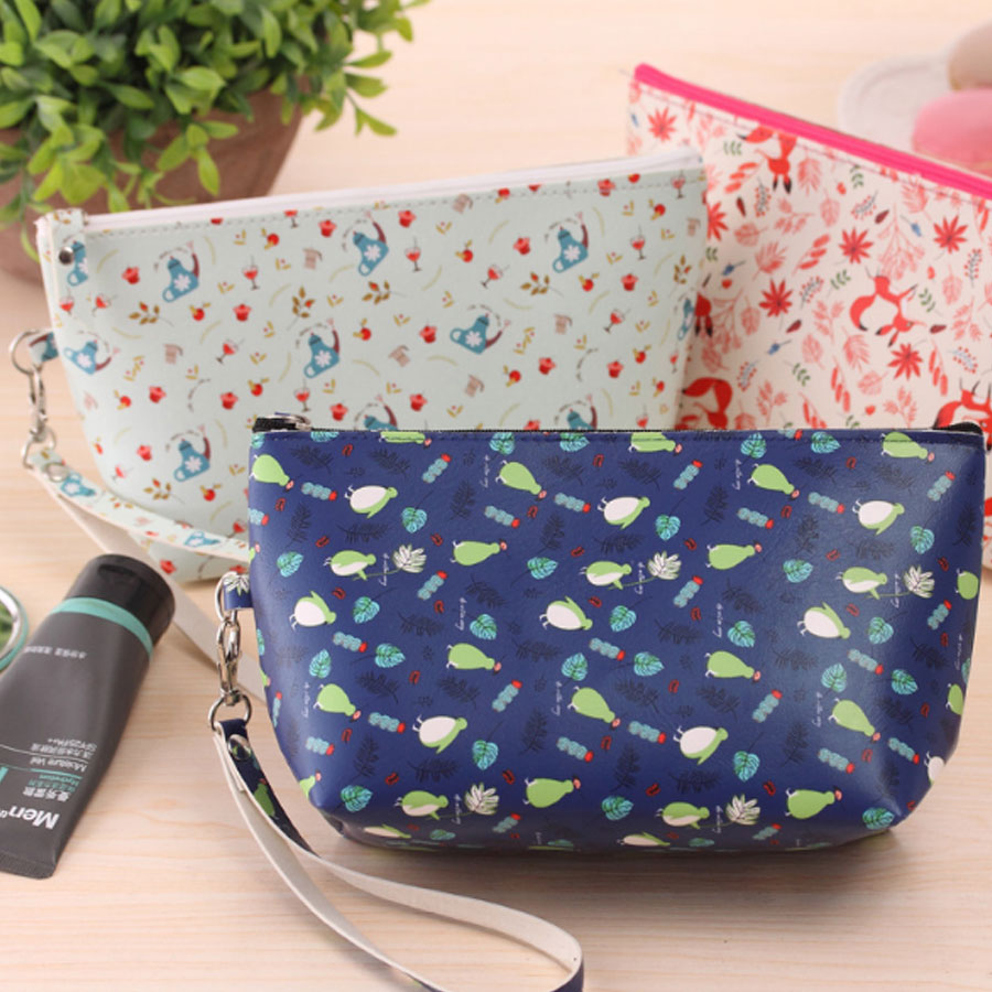 XYDYY Bird Kitty Prints Makeup Organizer Travel Bag Women Cosmetic Bags Women Packages Waterproof Cosmetic Bag Handbag Organizer polo authentic golf standard packages bag pulley drawbars travel professional lady rod bag standard cue packages nylon with pu