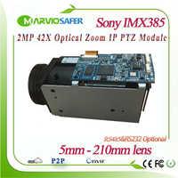 H.265 1080P 2MP 42X Optical Zoom 5-210mm lens Network IP Camera PTZ Module Starlight Sony IMX185/IMX385 Sensor RS485/RS232 Onvif
