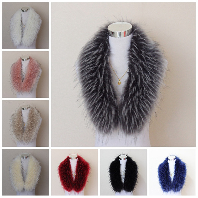 Woman Winter Faux Fur Collar Lady Soft Warm Overcoat Collar Retro Scarf Wrap Hot GJT9088