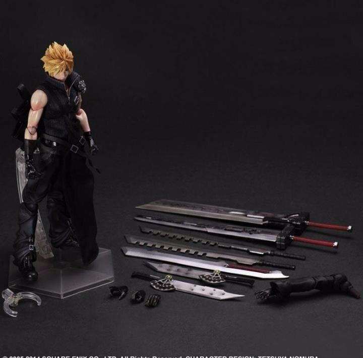 Играть Искусство Кай Final Fantasy Рис Final Fantasy VII Облако борьба Рисунок PA 25 см ПВХ Фигурку Куклы Игрушки для Детей подарок