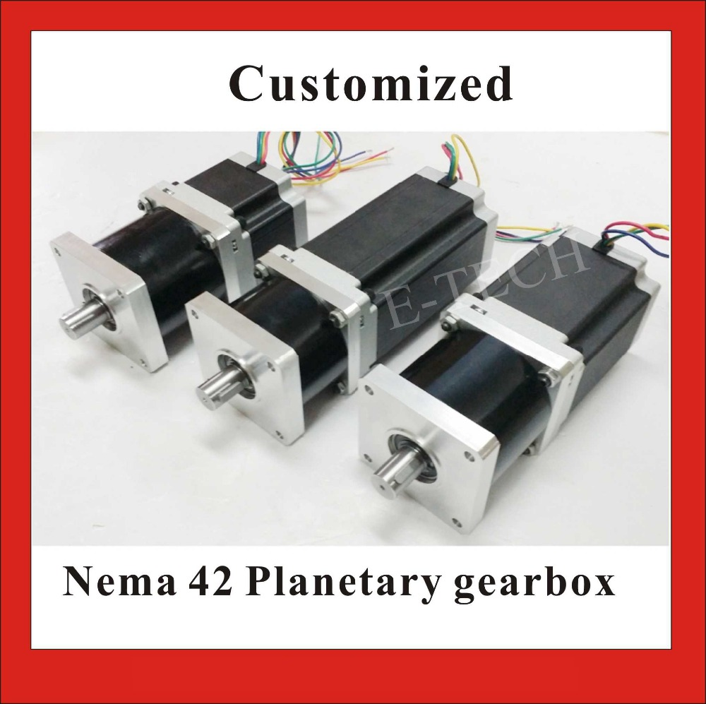 1pcs/lot 3:1 5:1 or 8:1 NEMA 42 Planetary Geared Stepper Motor 30N.m (4167oz-in)  Motor Length 201mm CNC Stepping Motor CE ROHS nema23 geared stepping motor ratio 50 1 planetary gear stepper motor l76mm 3a 1 8nm 4leads for cnc router