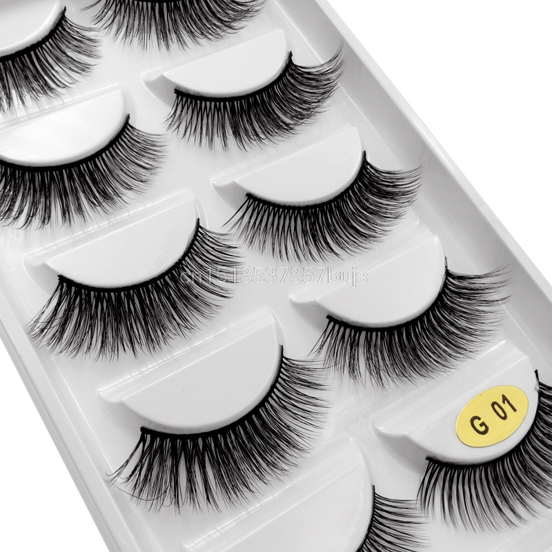 HTB1DflQXIfrK1Rjy0Fmq6xhEXXao New 3D 5 Pairs Mink Eyelashes extension make up natural Long false eyelashes fake eye Lashes mink Makeup wholesale Lashes