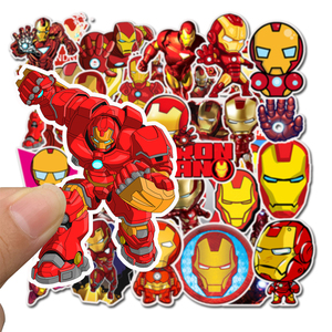 Image 5 - 35Pcs/pack Iron Man Graffiti Stickers Marvel For laptop Mouse Motorcycle Skateboard Guitar luggage Cute Style Stickers
