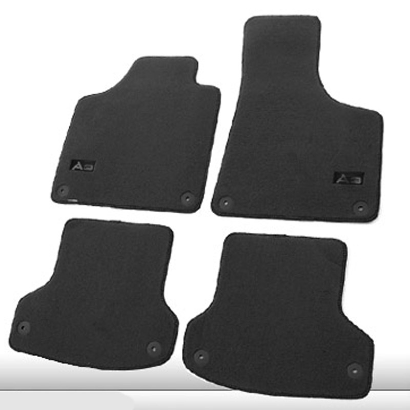 5pcs Premium Fabric Nylon Washable Car Floor Mats Carpet For Audi A3 2007-2016